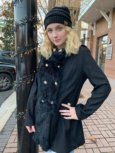 Black Coat w/ Black Fur