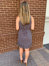 Dark Grey Naked Zebra Dress