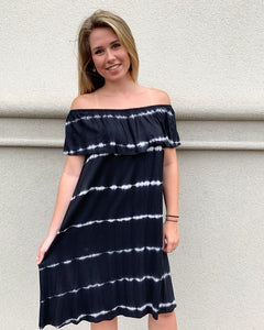 Black/White Tie Dye Dress