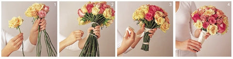 diy bouquets orig large - HOW TO MAKE A BOUQUET OF ROSES