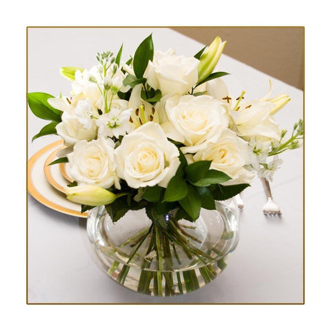 White Table Centerpieces
