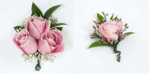Pink Corsage and Boutonniere