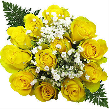 Ten Doze Yellow Rose Bouquets