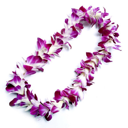 Purple Orchid Leis