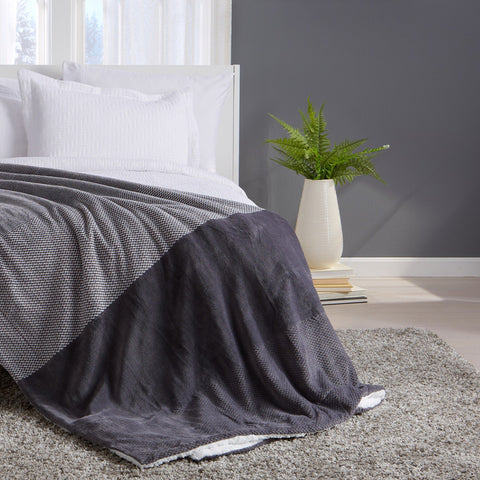 Allura Collection Reversible Sherpa Blanket