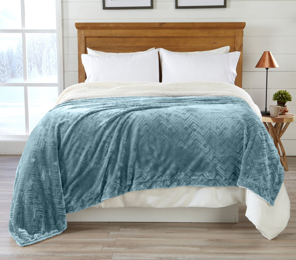 Great Bay Home Berber Collection plush luxury bed blanket