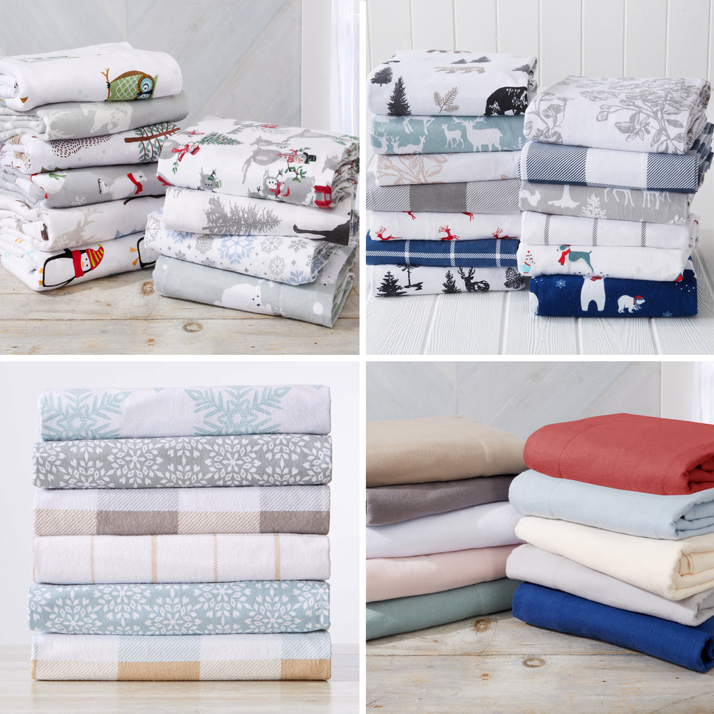 Great Bay Home Flannel Sheet Sets