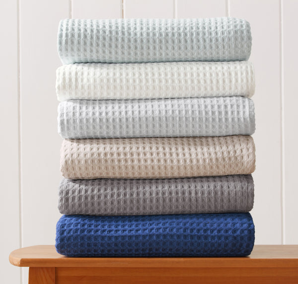 Mikala Collection waffle weave cotton blanket at Great Bay Home
