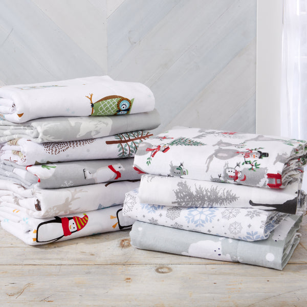 100% Turkish Cotton Flannel Sheets (Stratton Collection)
