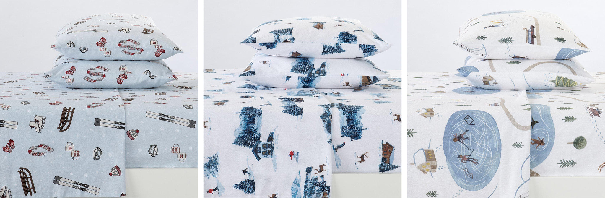 Lakeview Collection Flannel Sheets