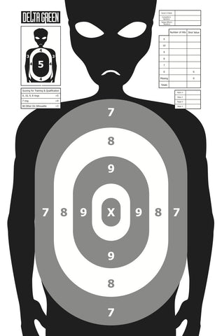 Delta Green: Shooting Targets - Grey (10)