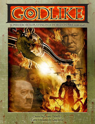 GODLIKE: Superhero Roleplaying in a World on Fire, 1936-1946 (paperback)