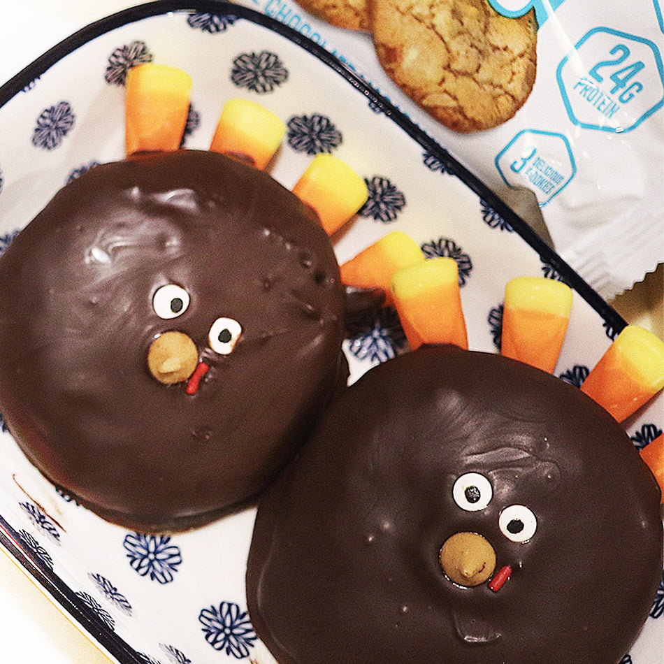 Chocolate Coated Turkey Cookies