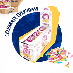Birthday Cake Cookie Bites - Box of 10 - MPB Snacks