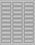 "Label Sheets, Gray 2.25"" x 0.75"" (30 labels)"