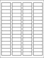 "Label Sheets, White 1.75"" x 0.667"" (60 Labels)"