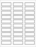 "Label Sheets, White 2.25"" x 0.75"" (30 labels)"