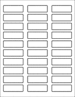 Label Sheets, White 2.25