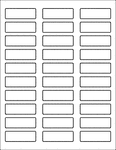 "Label Sheets, White Weather Proof 2.25"" x 0.75"" (30 Labels)"