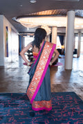 Two-Step Sari Two-Step Saree hidden elastic openings at back