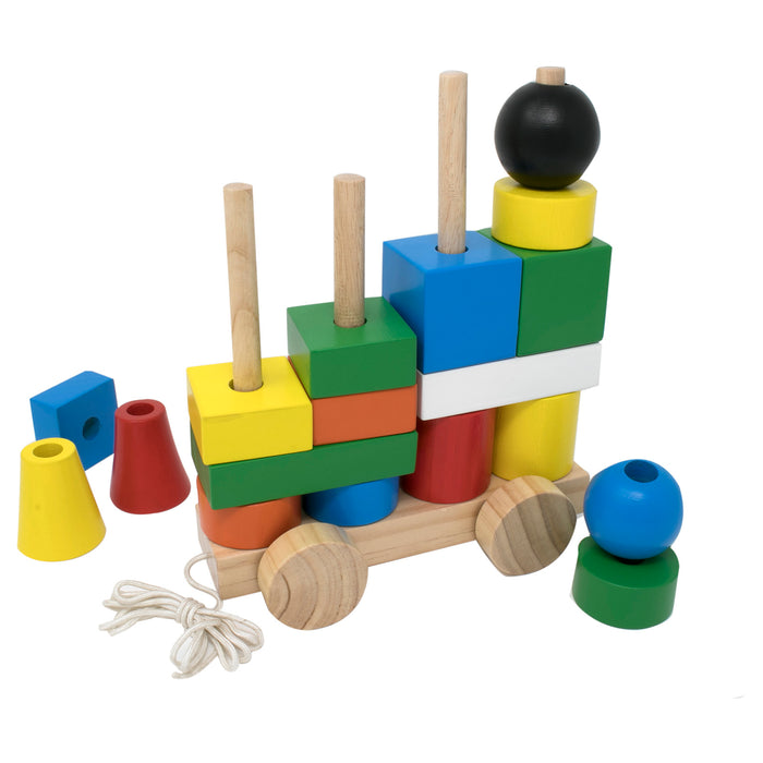 Stacking Train Blocks - Colored