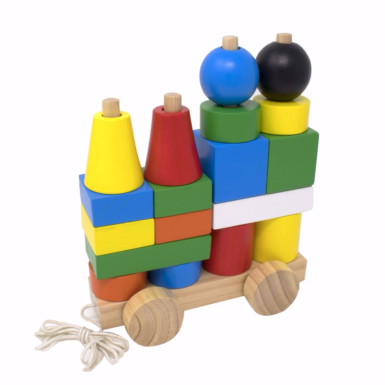 Stacking Train Blocks Early Learning Wooden Toy Educational