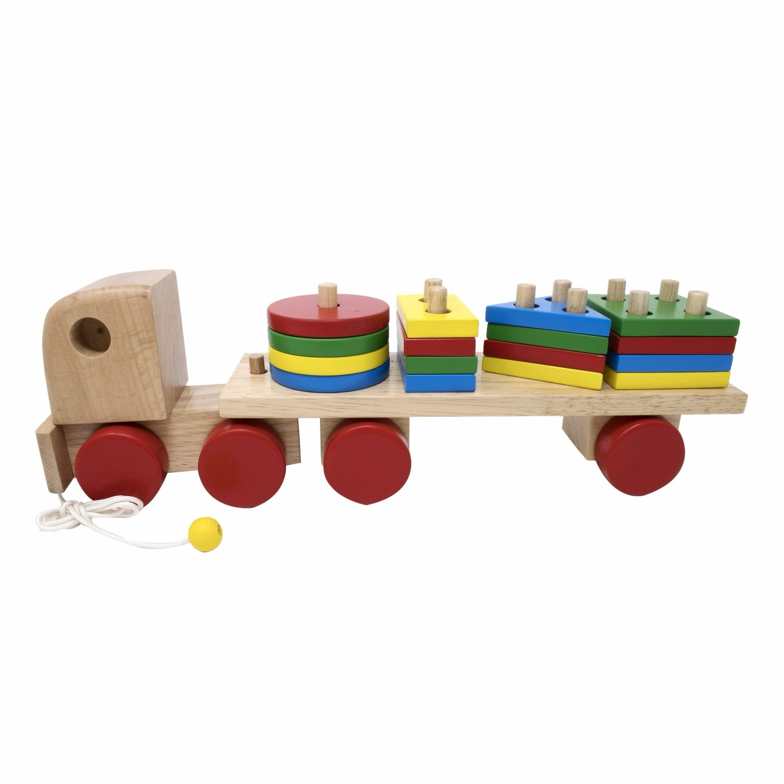 Geometric Stack sort Truck Early Learning Wooden Educational Toy