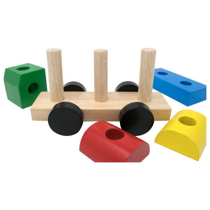 Stacking Truck with blocks