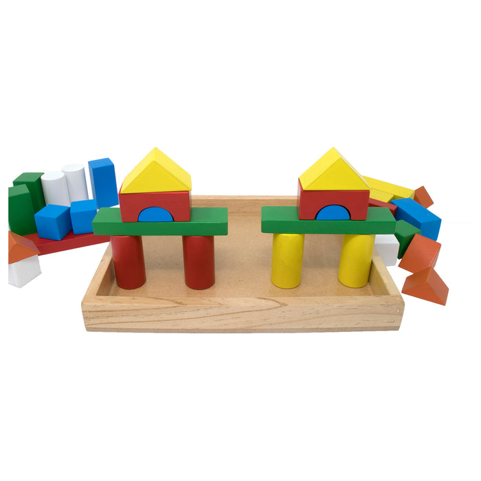 Building Blocks with Wooden Box (32 Pcs)