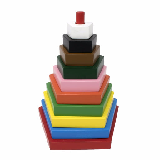 Rainbow Stacker Pentagon (10 Pcs)