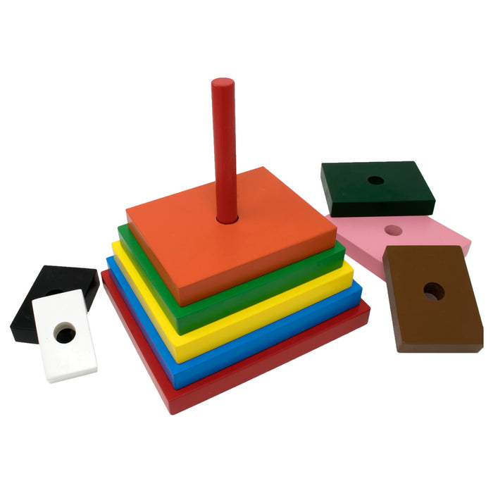Rainbow Stacker Square (10 Pcs)