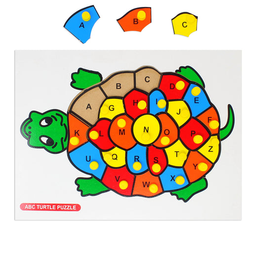 Alphabet A-Z puzzle - Turtle with knob