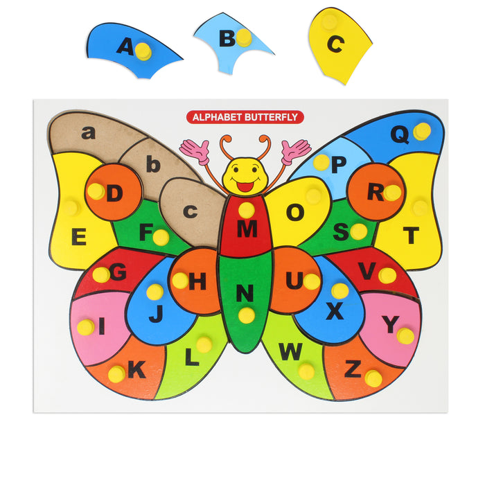 Alphabet A-Z puzzle - Butterfly with knob