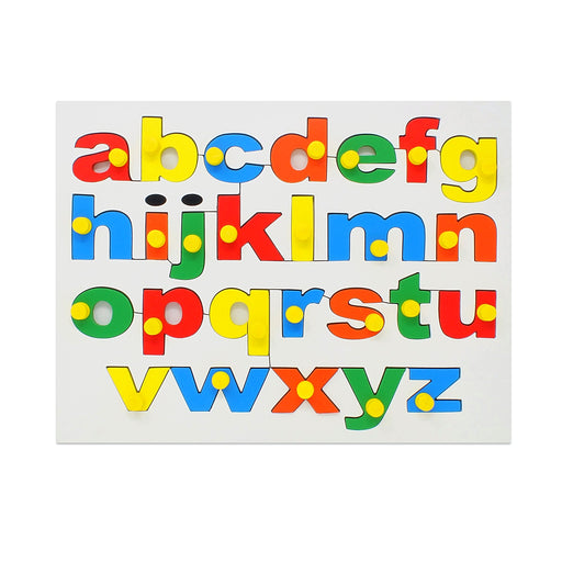 English Alphabet Board- Lowercase (abc) with Knob