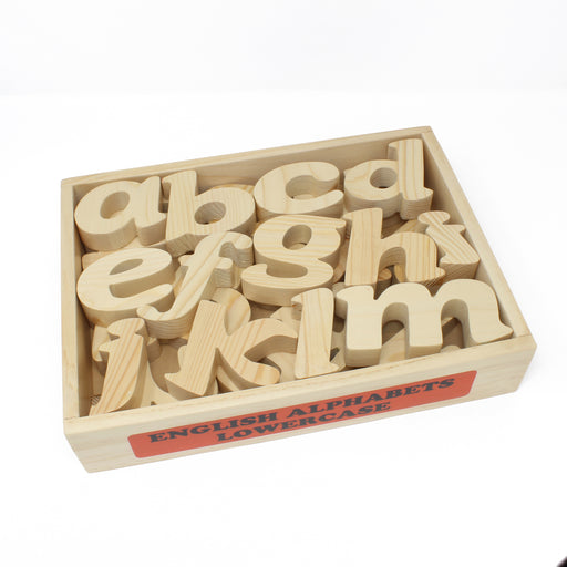 English Alphabet Lowercase in Wooden Box