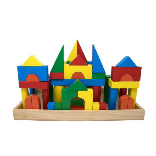 Building Blocks with Wooden Box (52 Pcs)