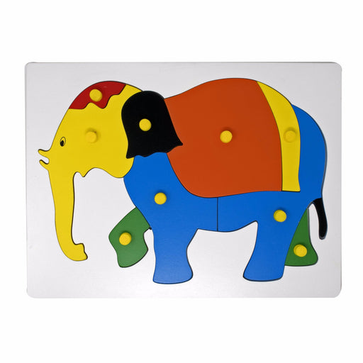 Elephant Inset Puzzle board with knob (09 Pcs)