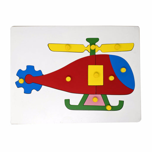Helicopter Inset Puzzle board with knob (10 Pcs)