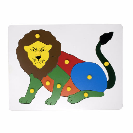 Lion Inset Puzzle board with knob (10 Pcs)