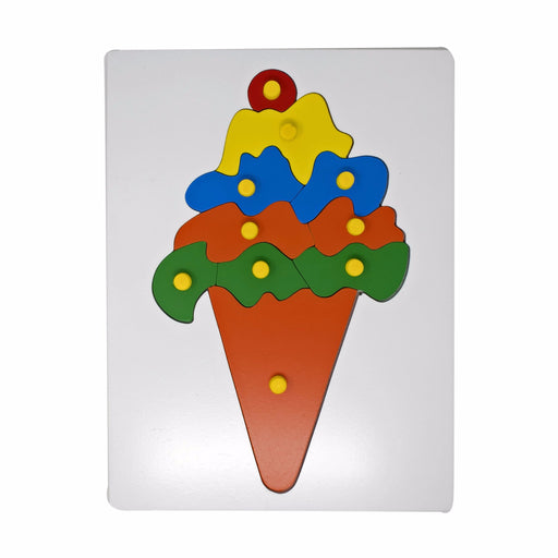 Ice Cream Inset Puzzle board with knob (10 Pcs)