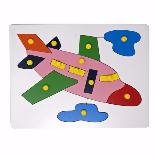 Airplane Inset Puzzle board with knob (13 Pcs)