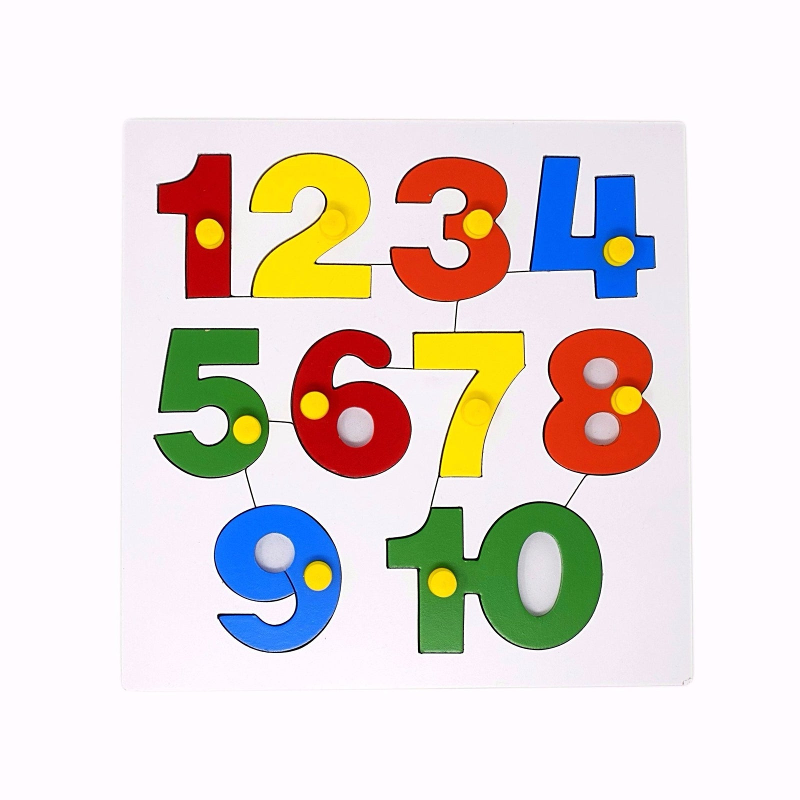 Toys For Learning Numbers : Number puzzle early learning wooden toy