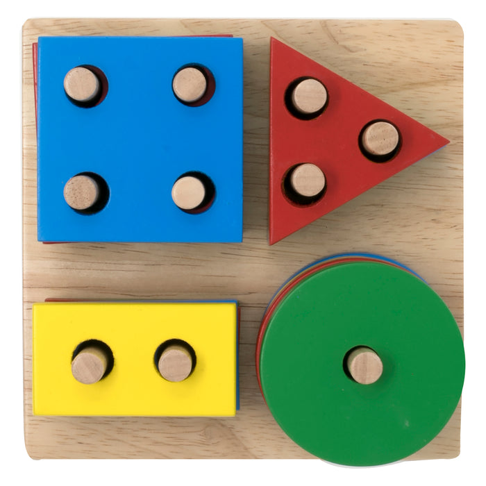 Stack and Sort Geometric Board (multi peg/shape)