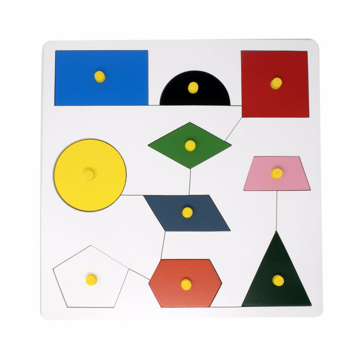 Geometric Shapes Inset sorting Board with knob