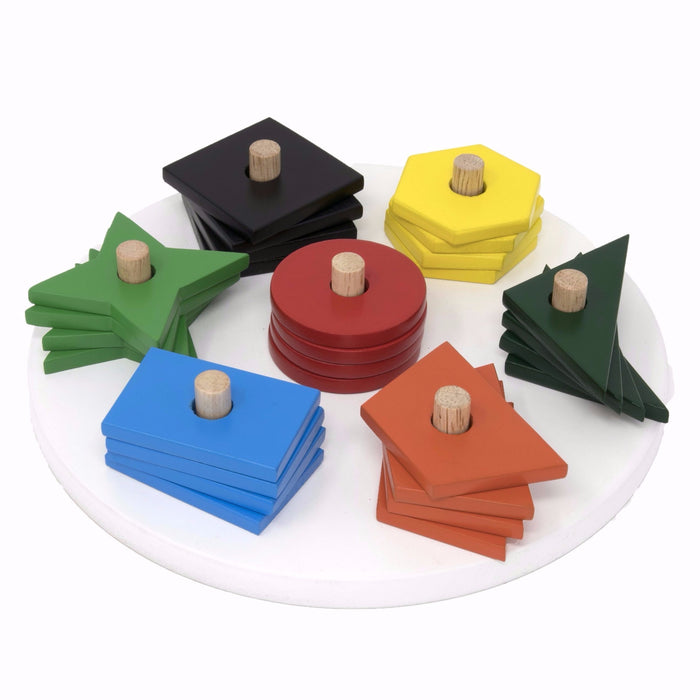 Multishape Stacking and Sorting Board - 07 Shapes