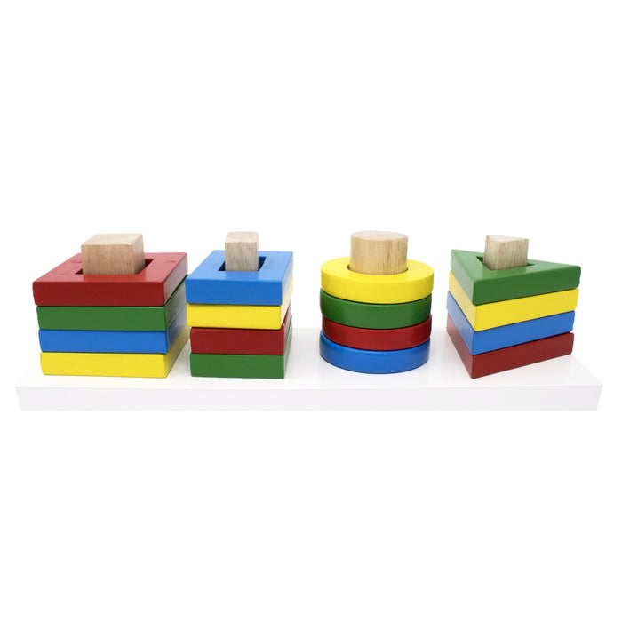 Stack and Sort Geometric Board (single peg/shape)