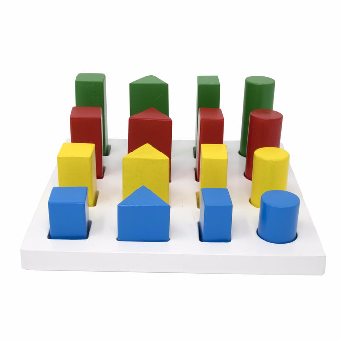Geometric Peg sorting Board