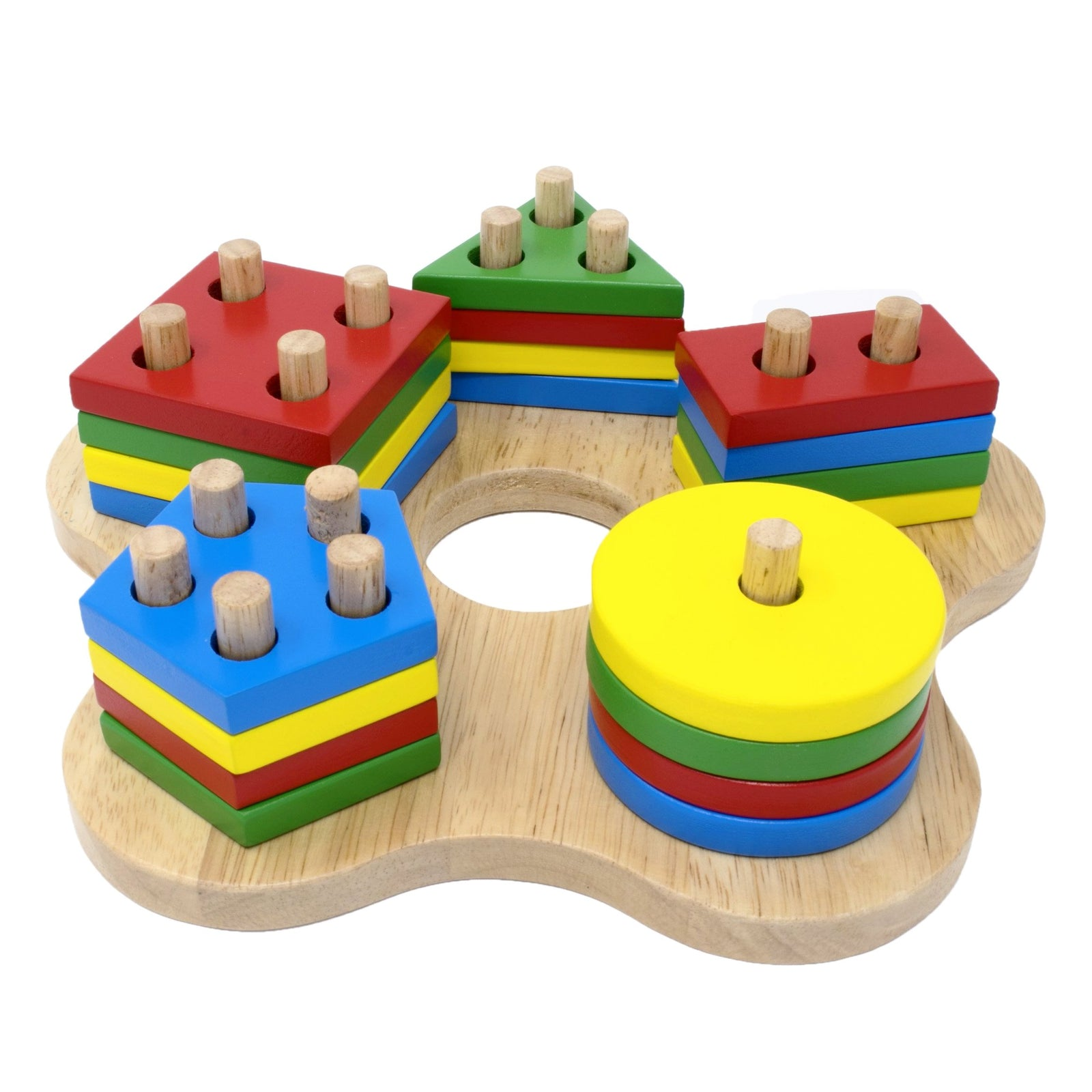 Stack Sort Geometric Early Learning Wooden Toy Educational Toy