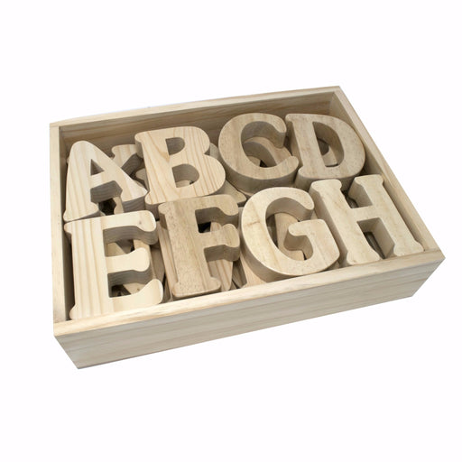 English Alphabet Uppercase in Wooden Box