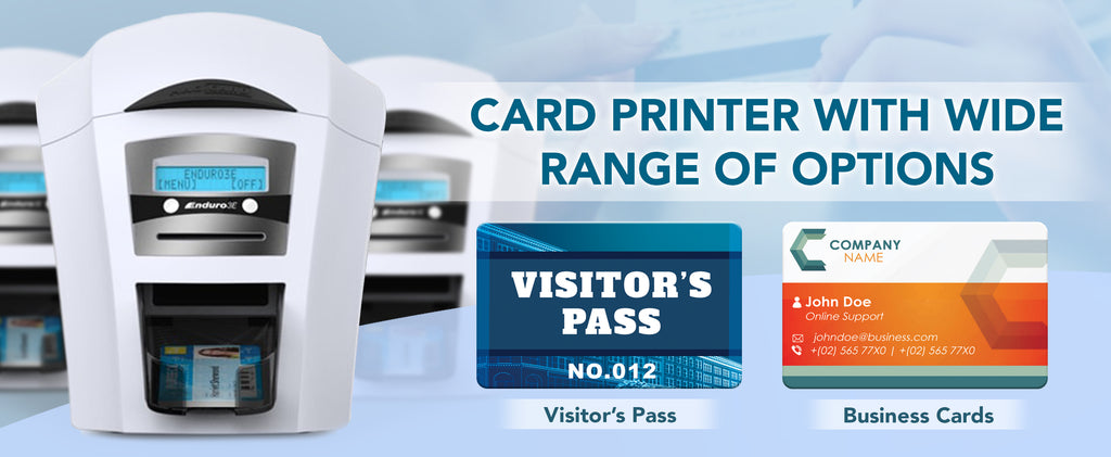 Card printer with wide range options